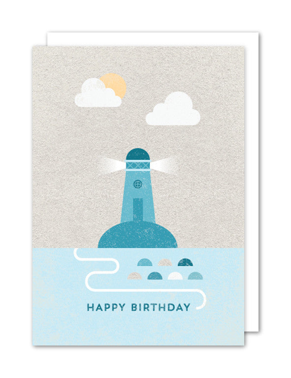 Happy Birthday Lighthouse Card by The Strawberry Card Company