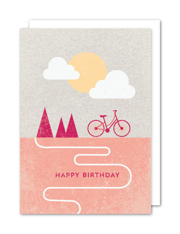 Happy Birthday Bicycle Card by The Strawberry Card Company