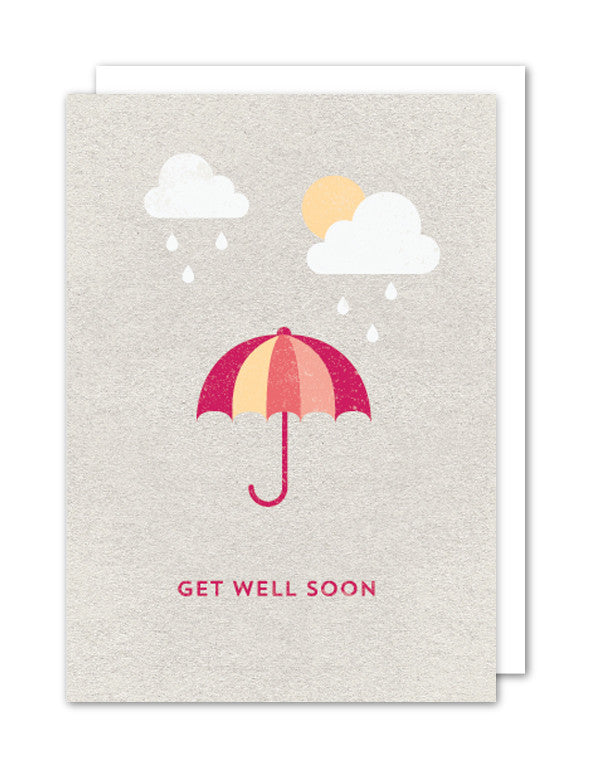 Get Well Soon Umbrella Card by The Strawberry Card Company