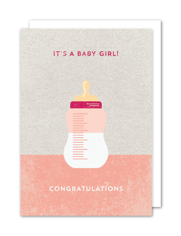 Its a Girl Card by The Strawberry Card Company