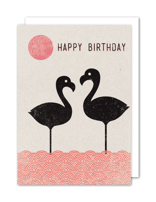 Happy Birthday - Flamingos