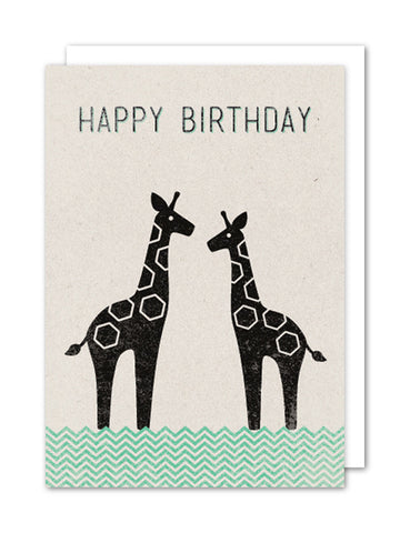 Happy Birthday - Giraffes