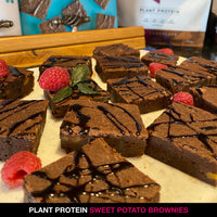 PLANT PROTEIN SWEET POTATO BROWNIES
