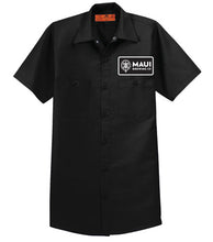 Load image into Gallery viewer, Maui Signature Logo Workshirts - Black / シグネチャーロゴ ワークシャツ ブラック