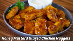 Cooking with Cass: Honey Mustard Glazed Chicken Nuggets