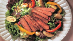 Grilled Sirloin and Salad, a filling lunch with a punch