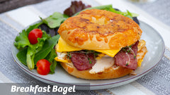Cooking with Cass: Halal Breakfast Bagel