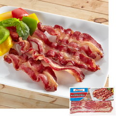 Halal Breakfast Beef Strips with package
