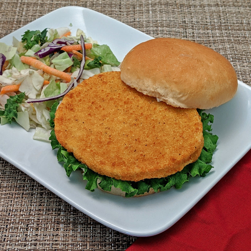 Halal Breaded Hand Cut Spicy Chicken Patty - 5 lb