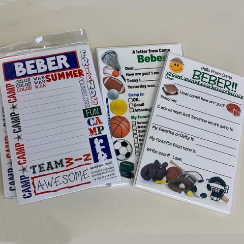 Beber Stationery - Camp Theme