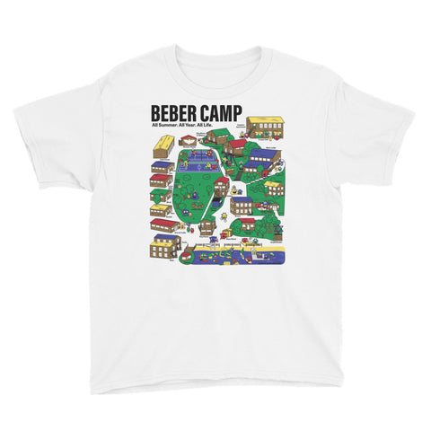 Beber Camp Map Unisex Youth T-Shirt