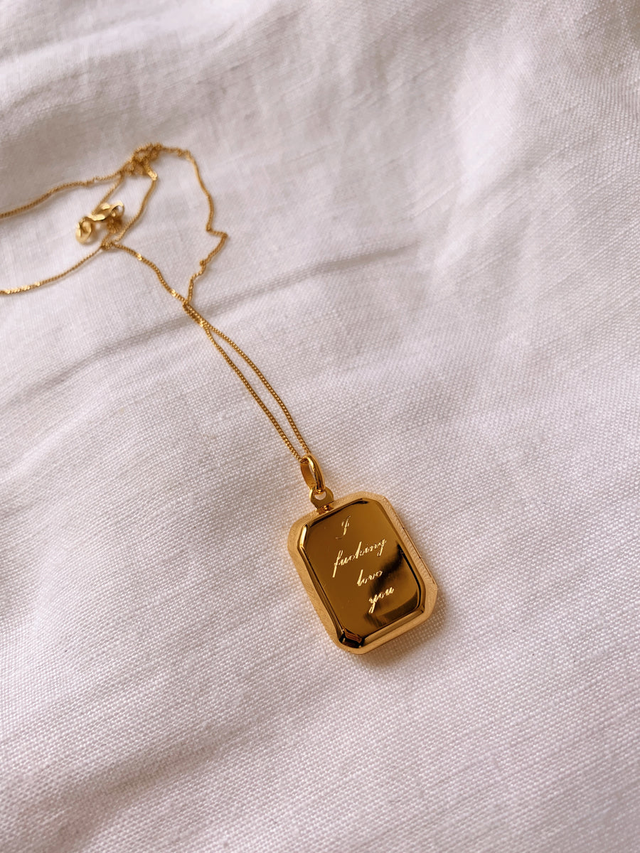 Locket ~ Rectangular / I Fucking Love You
