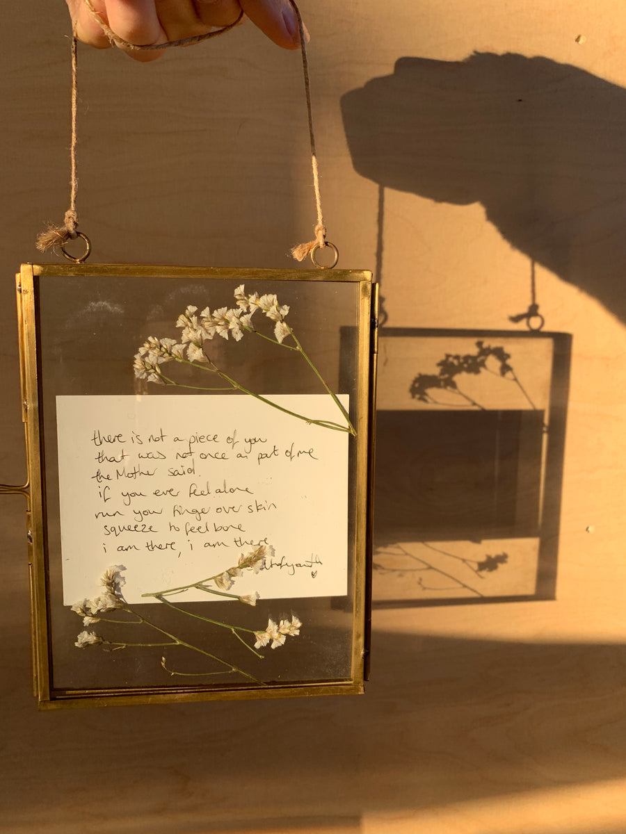 Framed Handwritten Poem /Rectangular Frame