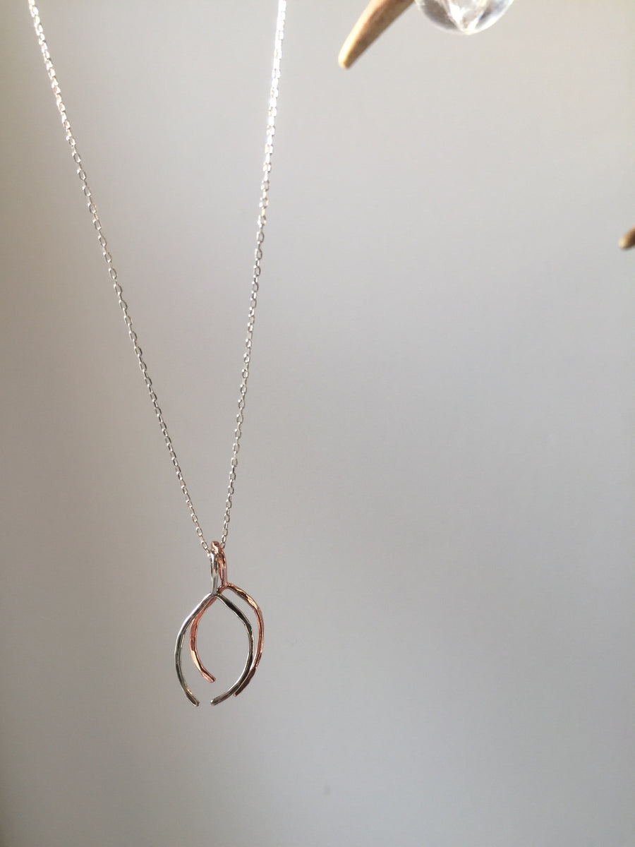 mixed metals wishbone chain