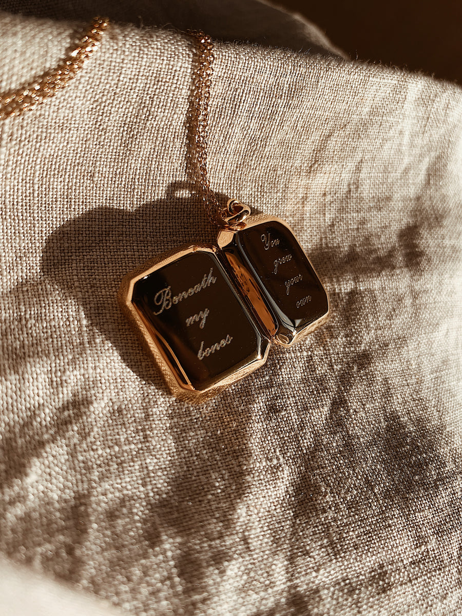 Locket ~ Beneath My Bones / Rectangular Script