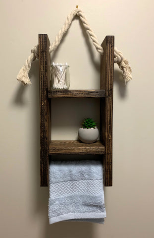 Mini Bathroom Shelf With Towel Rack