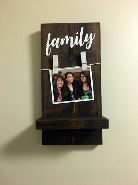 Family Picture Shelf