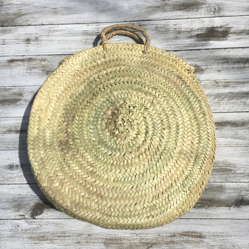FAIR TRADE WOVEN PALM CIRCLE BAG