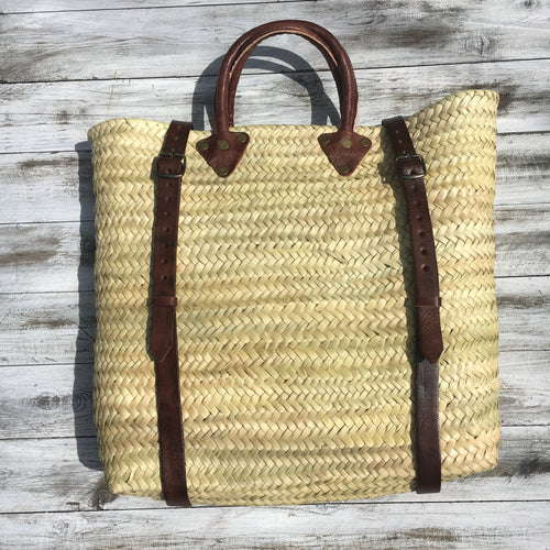 FAIR TRADE WOVEN PALM SATCHEL