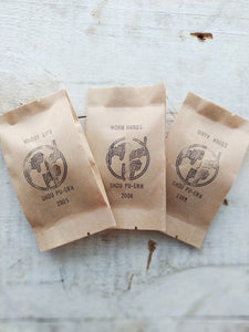 Set of 3 - shou pu-erh teas pouches