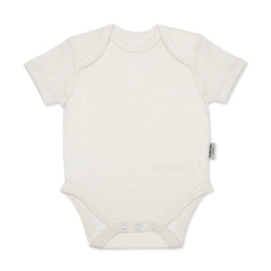 100% Superfine Merino Wool Short Sleeve Bodysuit