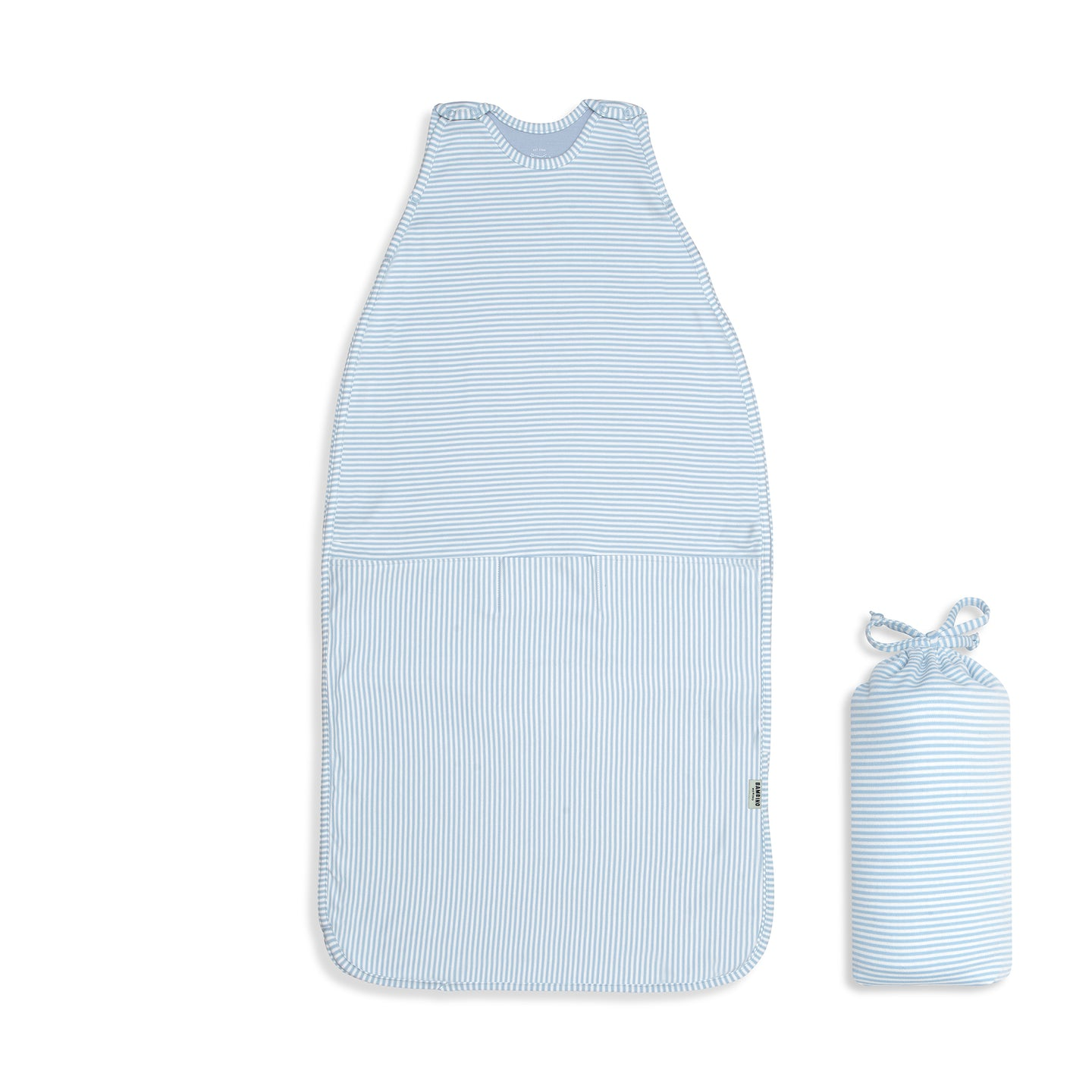 'Cooler Nights' Sleeping Bag - Sky Blue Stripe