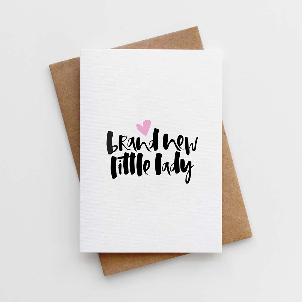 'Brand New Little Lady' Card by TooWordy ☆