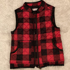 Buffalo in the Snow Vest (Red) - Monkey Bars Boutique