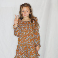 Vintage Floral Smocked Dress - Monkey Bars Boutique