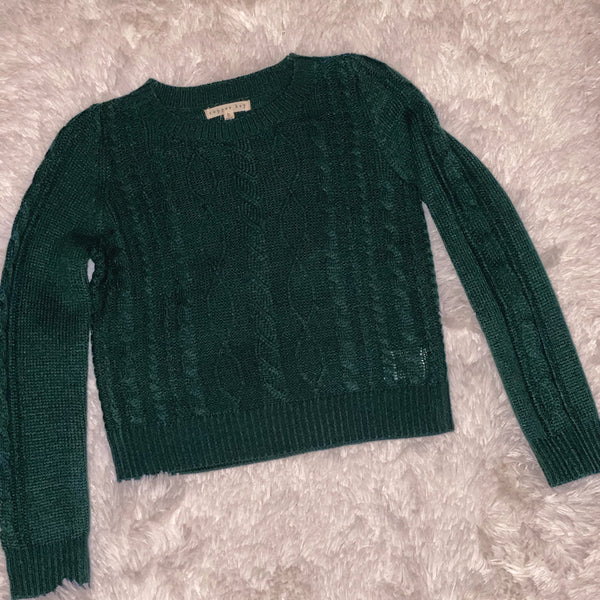 Cooper Key Cable Knit (Green) - Monkey Bars Boutique