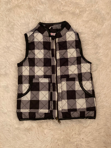 Buffalo in the Snow Vest (White) - Monkey Bars Boutique