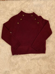 Cooper Key Button Sweater - Monkey Bars Boutique