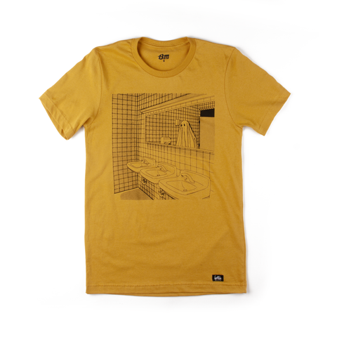Bathroom Ghost Shirt (Mustard)