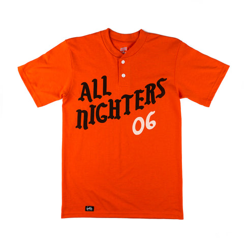 All Nighters Baseball Shirt (Orange)