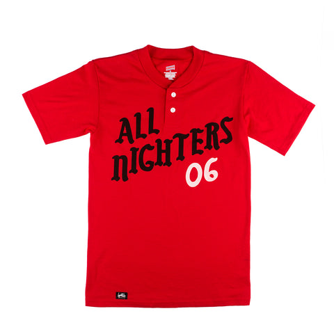 All Nighters Baseball Shirt (Red)