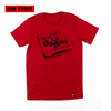 Pizza Box Shirt (Devil on Speckled Red)