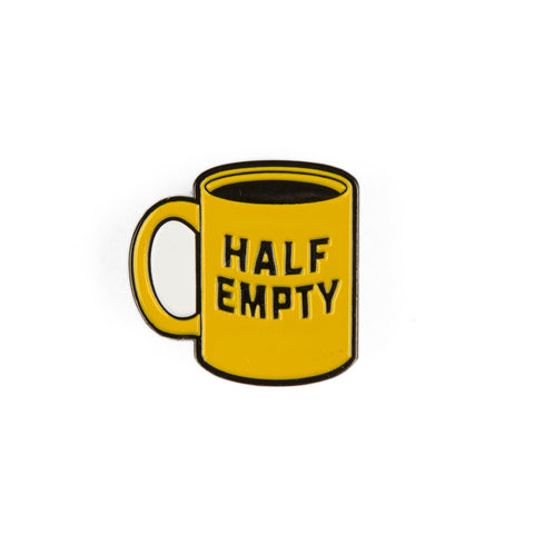 Half Empty Enamel Pin