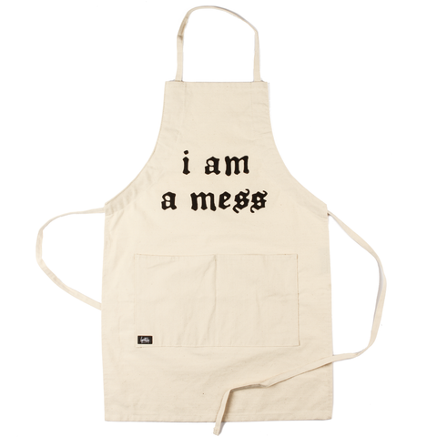 I Am a Mess Apron (Natural)
