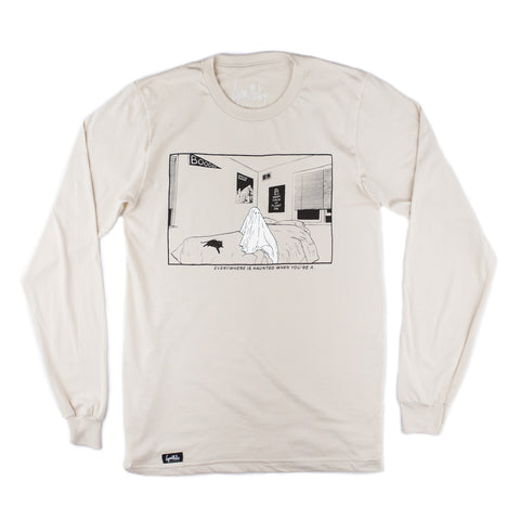 Bedroom Ghost Long Sleeve Shirt (Organic Natural)