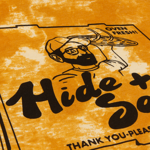 H&S Pizza Box Shirt (Gold Tie Dyed)