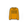 Sweater Weather Forever Enamel Pin (Mustard)