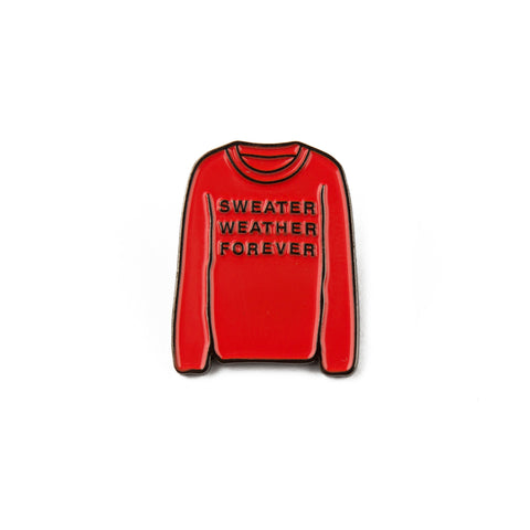 Sweater Weather Forever Enamel Pin (Vermilion)