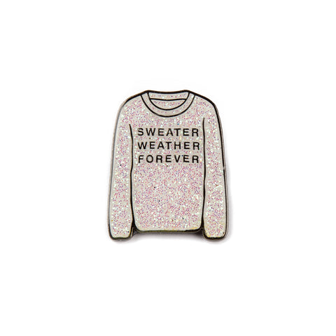 Sweater Weather Forever Enamel Pin (Glitter)