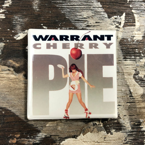 "Warrant ""Cherry Pie"" Pin '90"