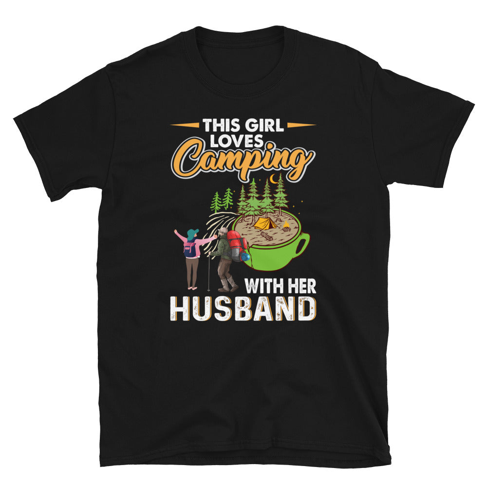 This Girl Loves Camping With Her Husband Short-Sleeve Unisex T-Shirt
