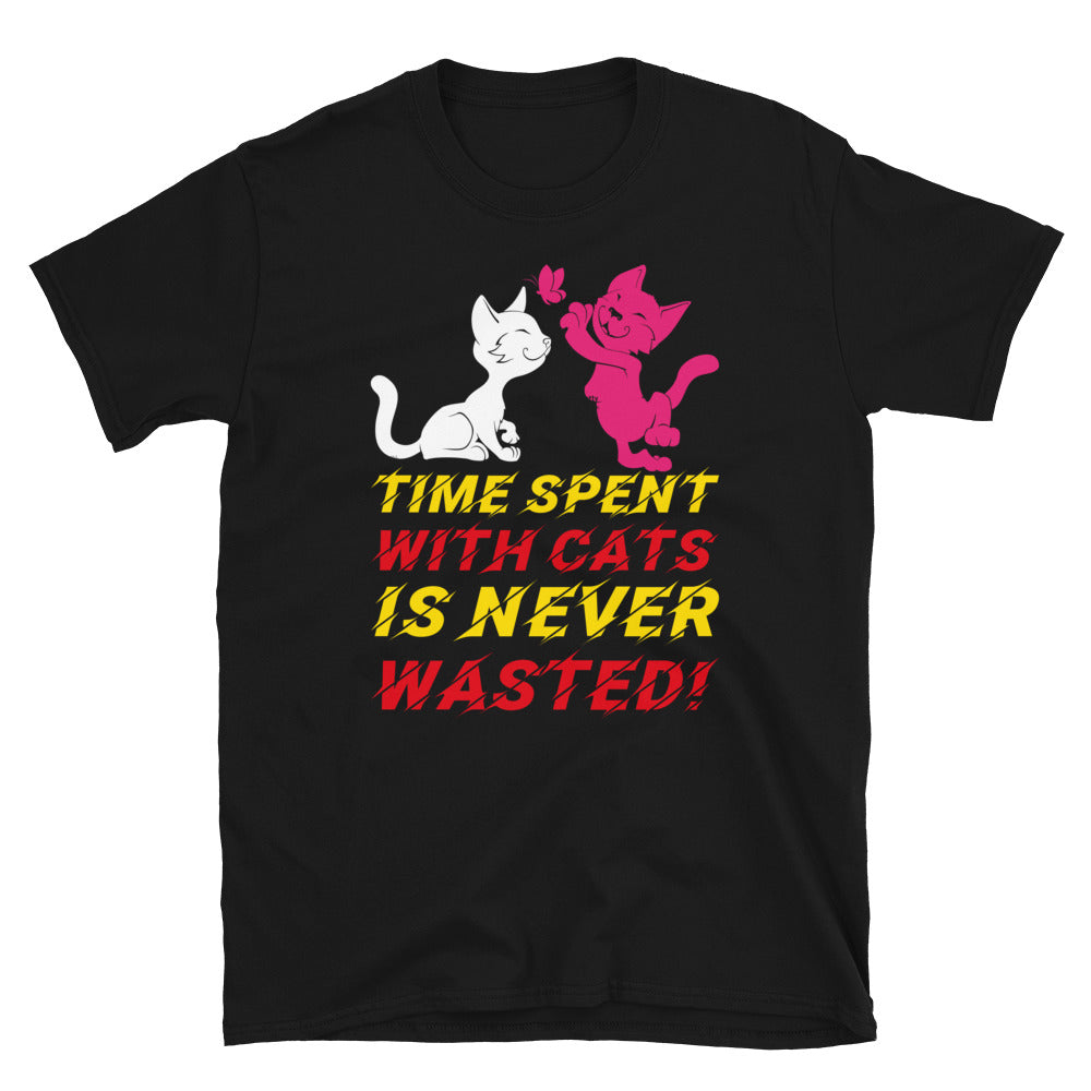 Time Spent With Cats Is Never Wasted Short-Sleeve Unisex T-Shirt