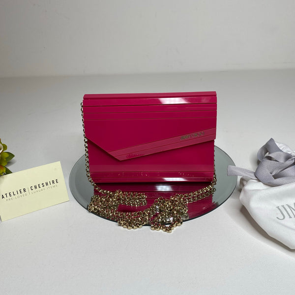 Jimmy Choo Candy Clutch in Hot Pink