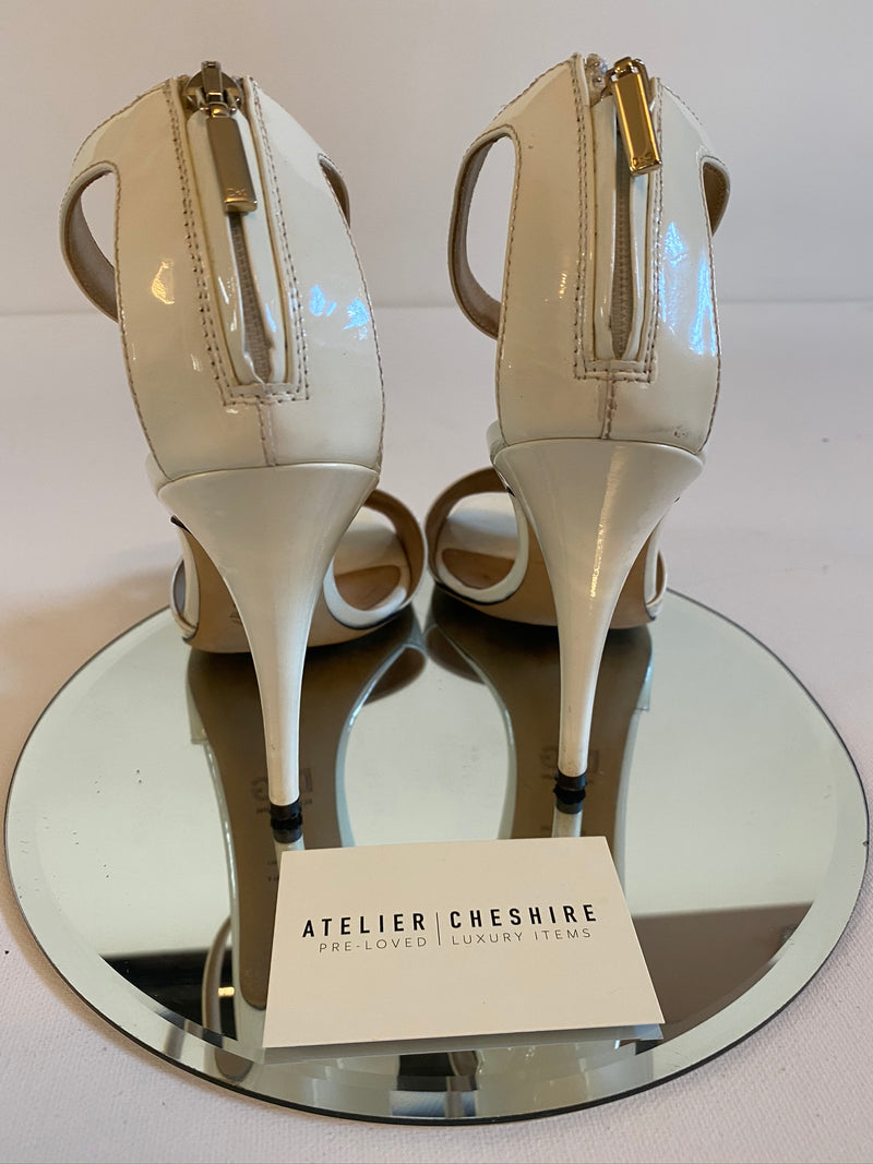 D&G Heels with Ankle Strap in White (Size 38)