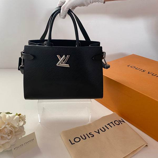 Louis Vuitton Twist Tote Epi Leather in Black with SHW