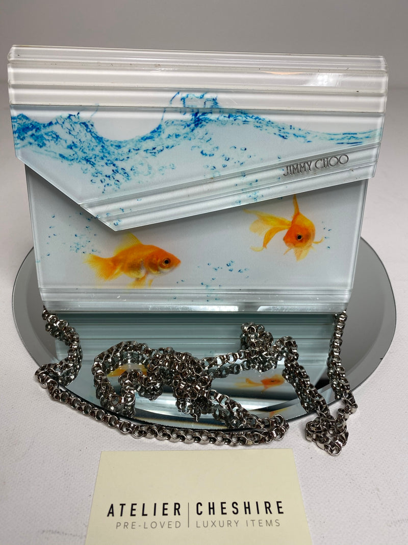 Jimmy Choo Candy Photorealistic Goldfish Clutch Bag